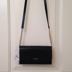 Kate Spade wallet on a chain Eva black